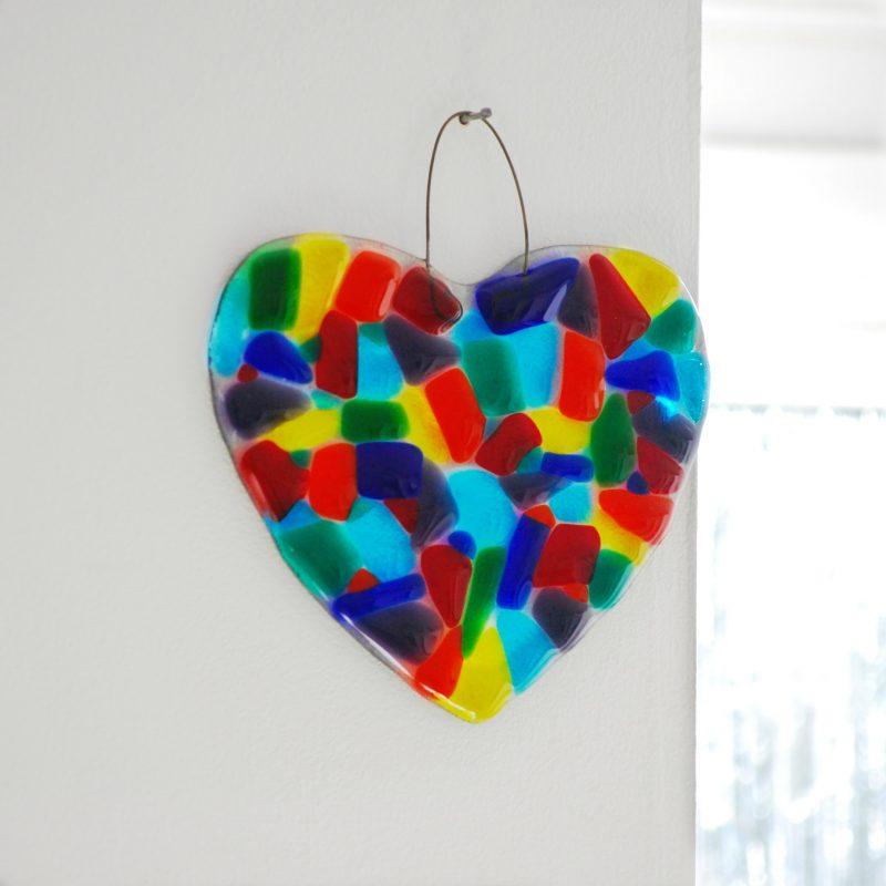 Rainbow Heart Suncatcher by Rainbow Lux Glass