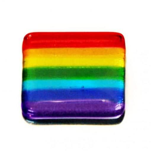 Fused Glass Pocket Rainbow by Rainbow Lux Glass