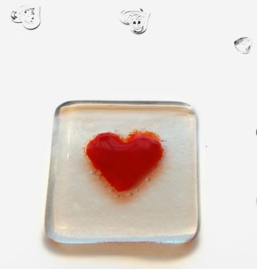 Love Heart Token by Rainbow Lux Glass