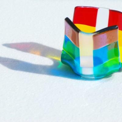 Rainbow Tealight Holder by Rainbow Lux Glass
