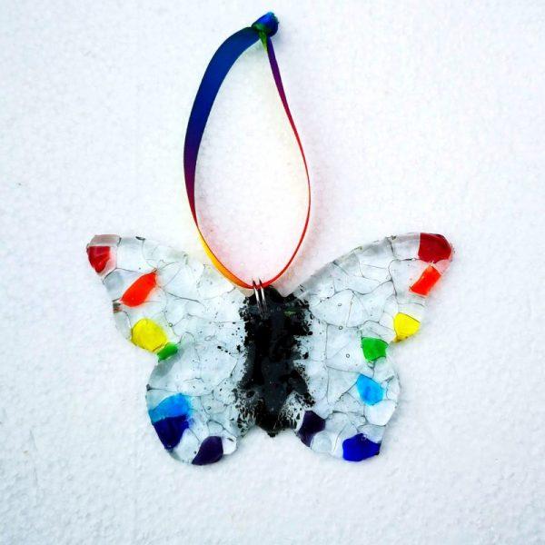 Rainbow Glass Butterfly by Rainbow Lux Glass