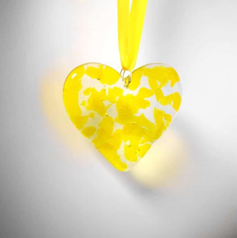 Yellow Glass Heart