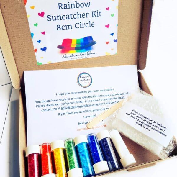 DIY home suncatcher kit with rainbow glass